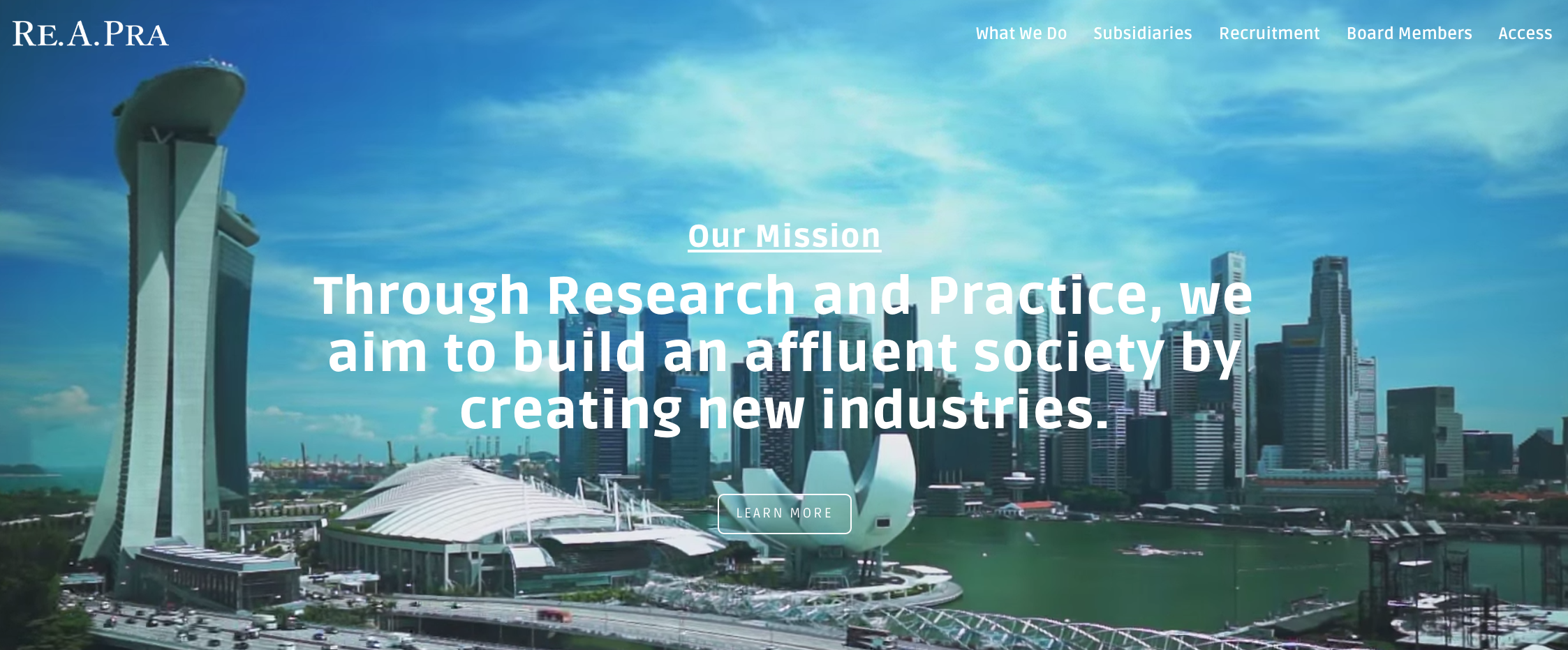 東南アジア全域イノベーションを巻き起こす注目のREAPRAグループの一角