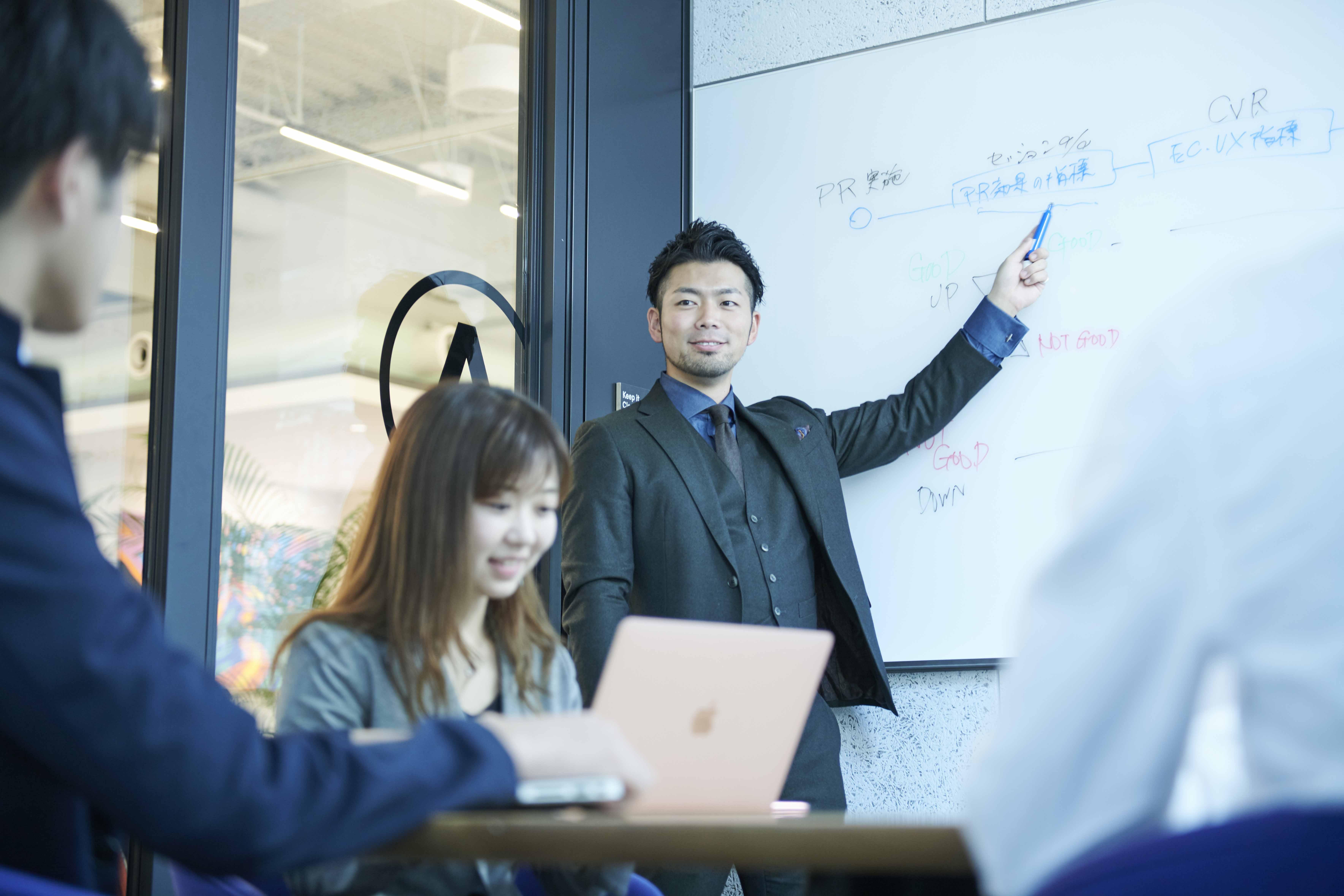企画提案力、コミュニケーションセンス、データ解析力が身に付きます。