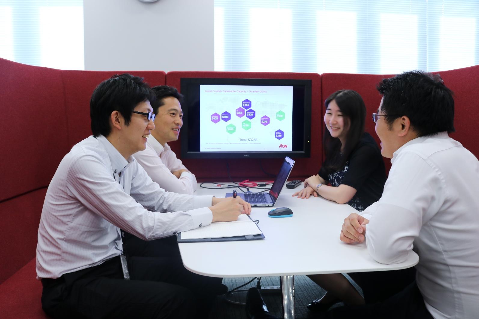 グローバルな環境です。英語を使いたい学生は必見!