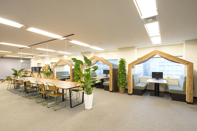 開放感にあふれ、働きやすいオフィスです。